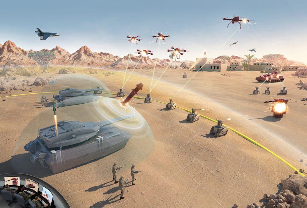 Main Ground Combat Systems (MGCS) op het slagveld van de toekomst.