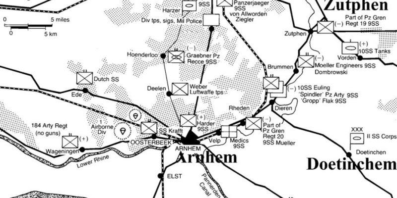 Figuur 1: kaartje Duitse Alarmeinheiten
