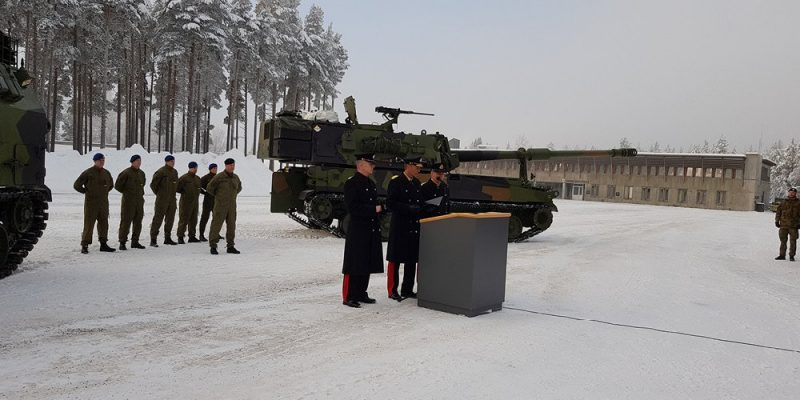 A handover ceremony. December 4, 2019 at Rena Military Camp. Photo Håland
